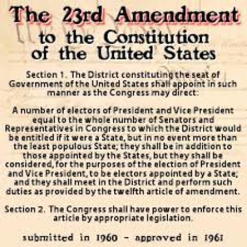 Twenty Third Amendment