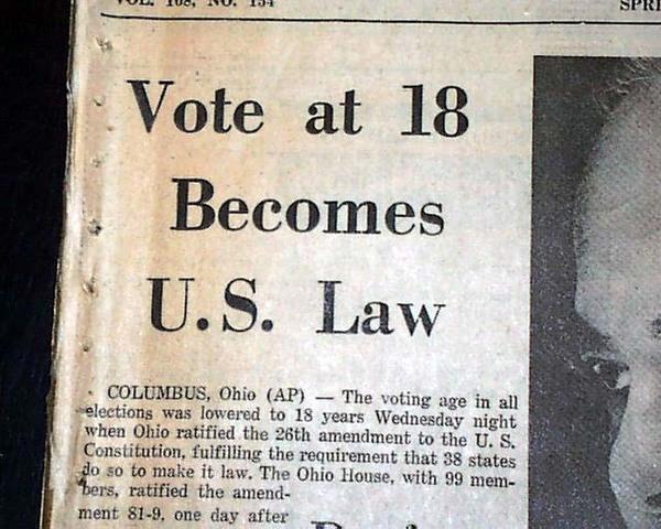 Twenty Sixth Amendment