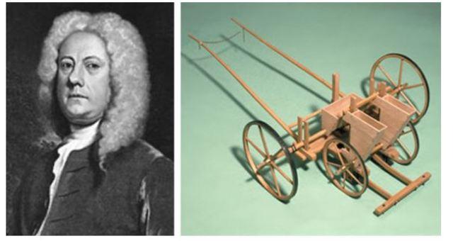 J. Tull crea la sembradora mecánica