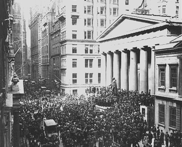 Quebra da bolsa de valores em Nova Iorque