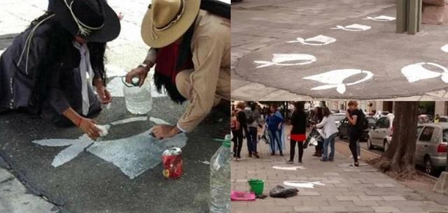 Repintan pañuelos de las Madres y Abuelas de Plaza de Mayo