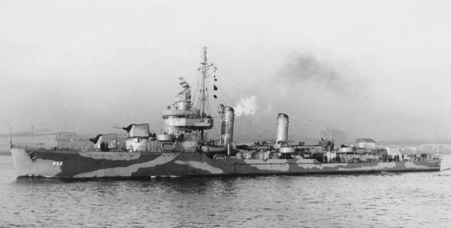 The USS Kearny Sinks
