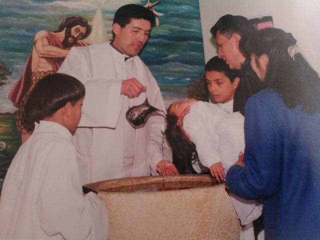 El bautizo de mi hermana