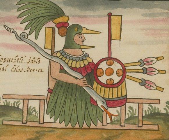 En el lugar donde hoy se alza la catedral de la ciudad de México, se sacrificaron 20 000 personas a Huitzilopochtli, el dios azteca de la guerra y del Sol