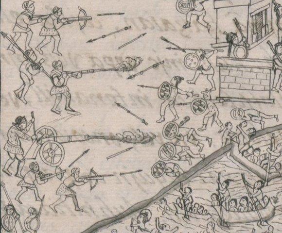 Cortés conquista Tenochtitlán (ciudad de México)