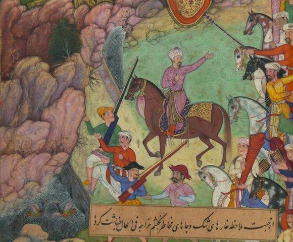 Babur, emperador de Indostán, establece el Imperio mogol en India