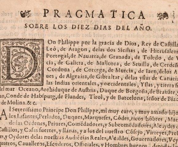 El papa Gregorio XIII introduce el calendario gregoriano, en el cual elimina diez días al año 1582