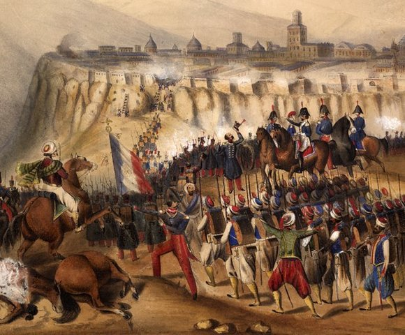 Los franceses conquistan Argelia