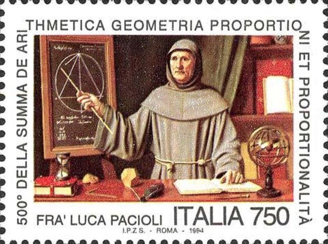 """La """"Summa de arithmetica, geometría, proportioni et proportionalita"""" de Fray Luca Pacioli"""