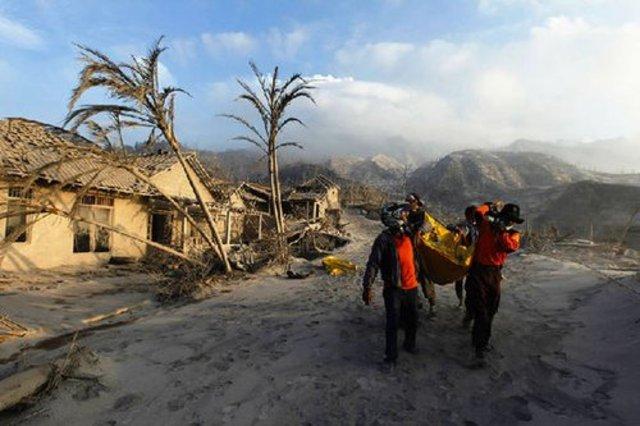 the tsunami in Indonesia