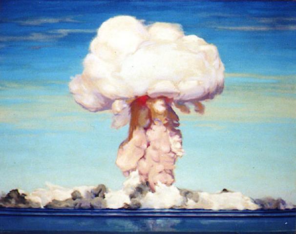 The first atomic bomb blast.