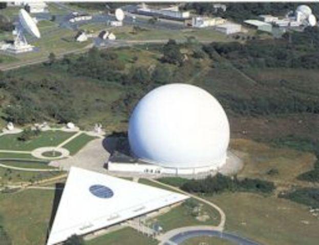 First Transatlantic Reception of a Television Signal via Satellite.