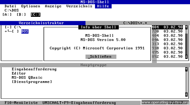 Microsoft MS-DOS Computer Operating System started.