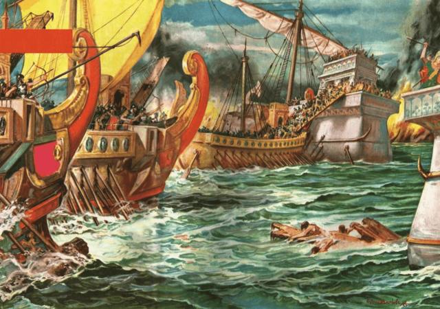 La batalla naval de Accio