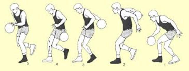 Se introduce el dribling con cambio de mano entre piernas y por detrás de la espalda.