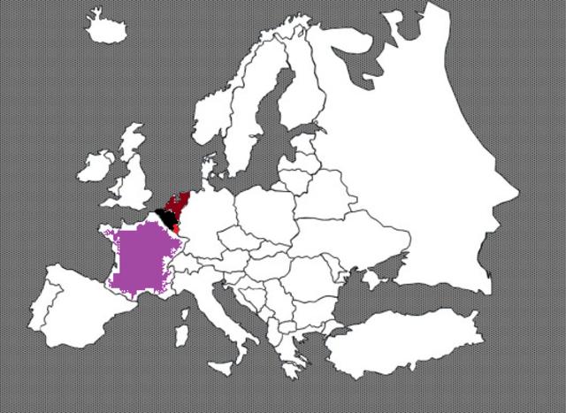 innovasjonen av Nerderland, Luxemburg, Belgia og Frankrike