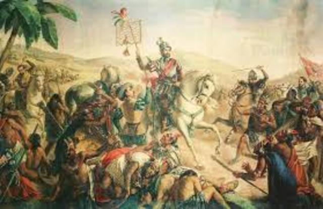 Hernán Cortéz conquista Tenochtitlan