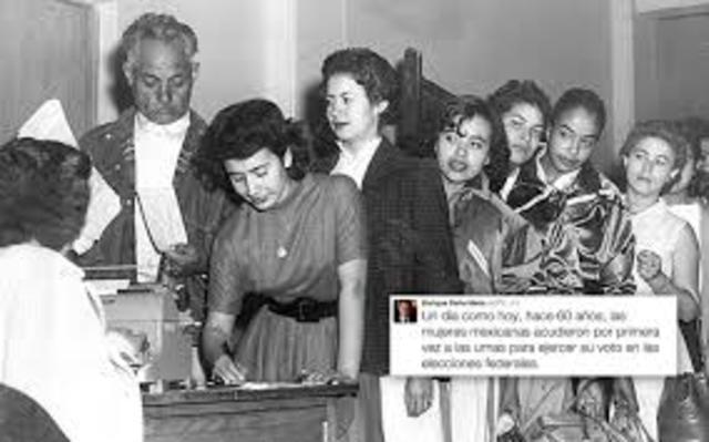 Se otorga el derecho al voto a la mujer