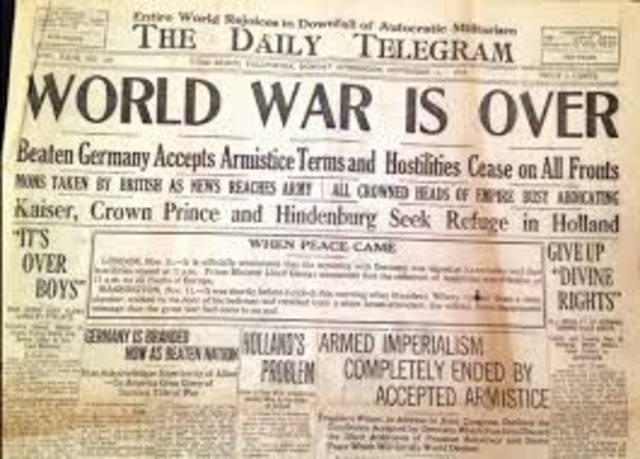 Negotiations end of World War I