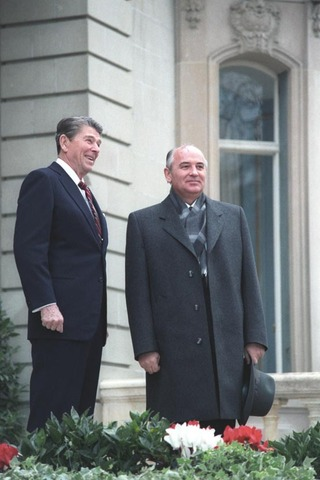 Reagan and Gorbachev meet for the first time