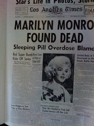 The 'death decade' begins with Marilyn Munroe (1962)