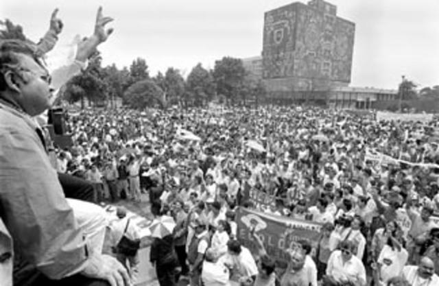 Huelga estudiantil UNAM.