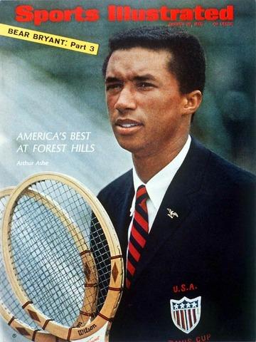 Arthur Ashe (first black man) won Wimbledon