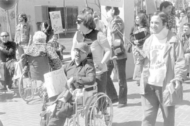 Protest by Disability Activists