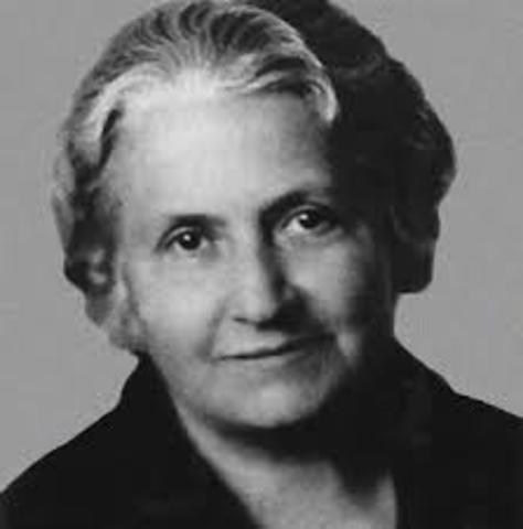 María Montessori.