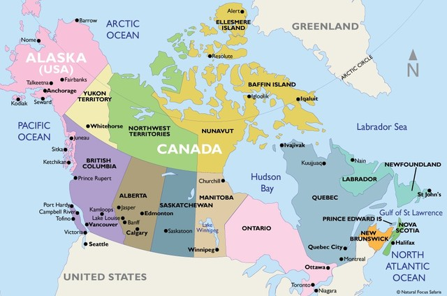 Canadá se extiende al oeste