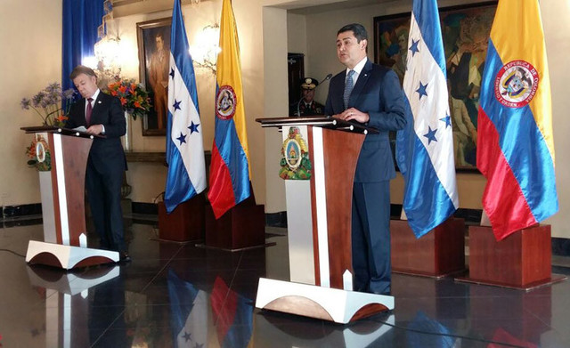 Presidente de Honduras visita Colombia