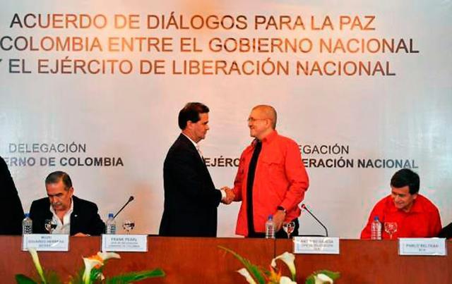 inicio de los diálogos de paz con ELN