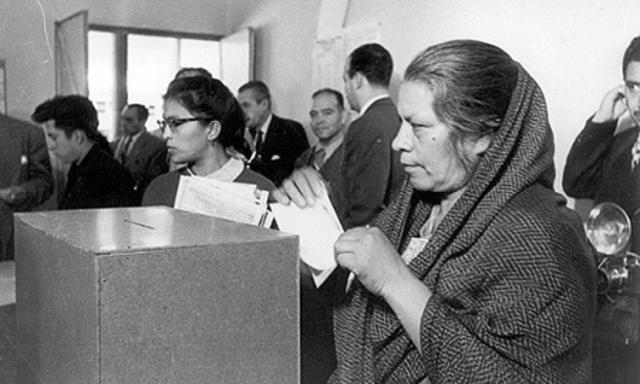 Por primera vez las mujeres votan en México