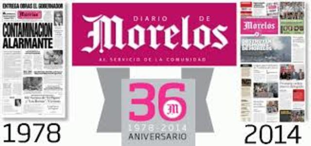 Inicia la circulación del Diario de Morelos