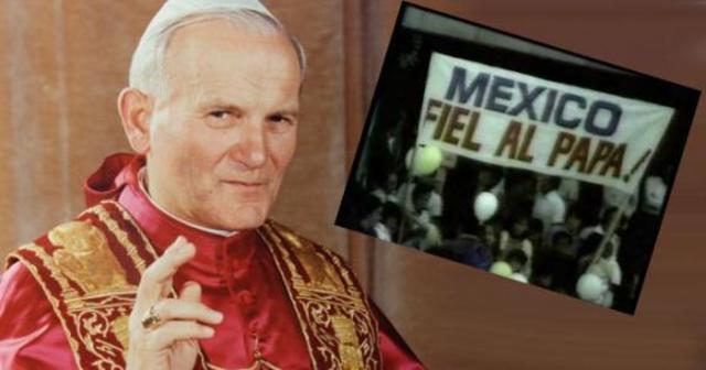 El Papa Juan Pablo II visita por cuarta ocasión el país