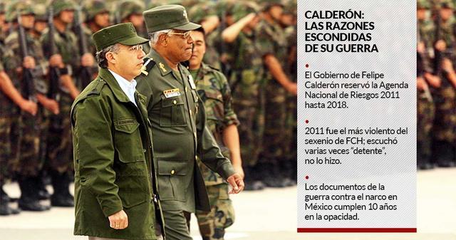 Calderón le declara la guerra al narcotráfico
