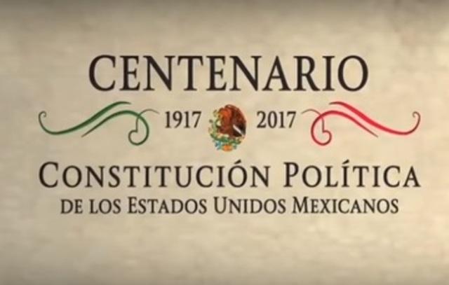 Celebración del Centenario de la Constitución Política de los Estados Unidos Mexicanos.