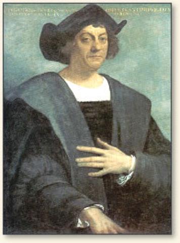 Columbus's landing on north america