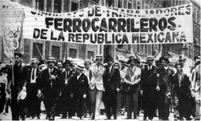 MEXICO, ORDEN SUPREMA DE EMPLEADOS FERROCARRILEROS MEXICANOS. Fotografía recuperada de: https://www.centrolombardo.edu.mx/la-huelga-de-ferrocarrileros-y-la-nacionalizacion-de-la-empresa/