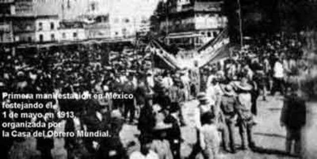 MEXICO. DEPARTAMENTO DE TRABAJO Y CASA DEL OBRERO MUNDIAL. Fotografía recuperada de: http://www.antorcha.net/biblioteca_virtual/historia/com/casaobreromundial.html