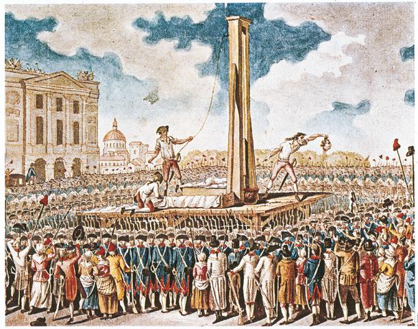 Re Luigi XVI ghigliottinato