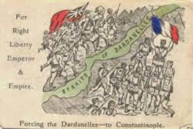 Derrota aliada a la batalla dels Dardanels