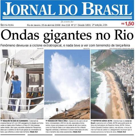O Jornal do Brasil registra anúncio que oferece profissionalização por correspondência para datilógrafo.
