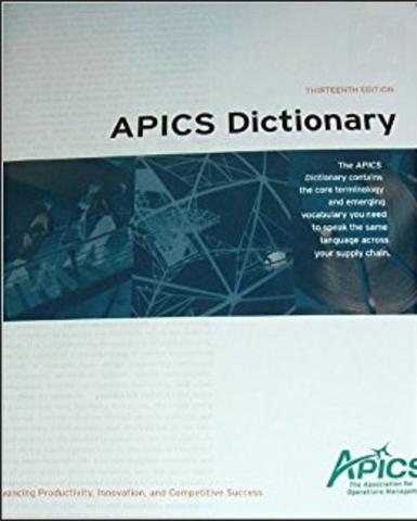 Introducción del diccionario APICS.