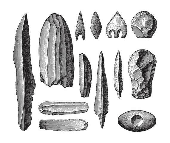 Primeras Herramientas de Piedras y Palos