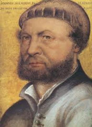 Hans Holbein nombrado pintor del Rey por Enrique VII