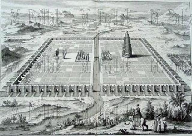 King Hammurabi builds walls of Babylon