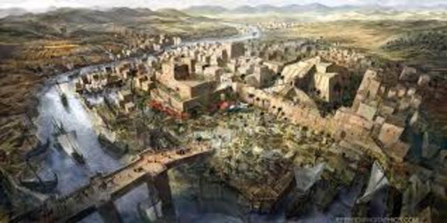 Hammurabi rules Mesopotamia from Babylone