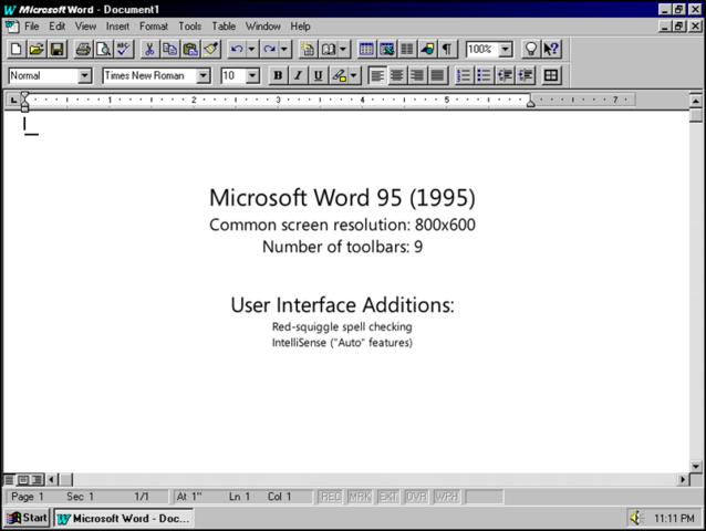 1995 Word para Windows 95