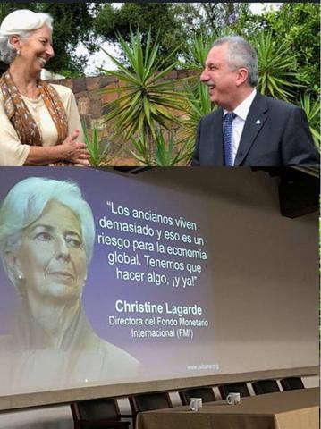 Passalacqua con Lagarde, directora del FMI